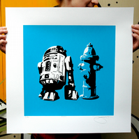 Star Wars R2D2 Hand Pulled Limited Edition Screen Print