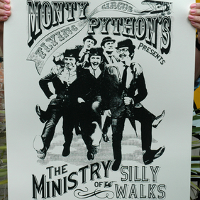 Monty Python Silly Walks Hand Pulled Limited Edition Screen Print
