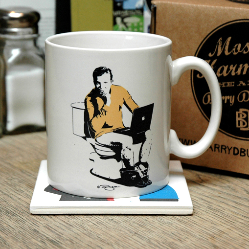 Star Trek Captain's Log Earthenware Ceramic Mug