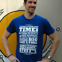 Dr. Who 'Time' Screen printed T Shirt