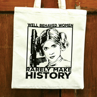 Star Wars Princess Leia - Cotton Canvas Reusable Shopping Tote Bag