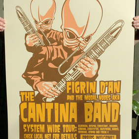 Star Wars 'The Cantina Band' Hand Pulled Limited Edition Screen Print