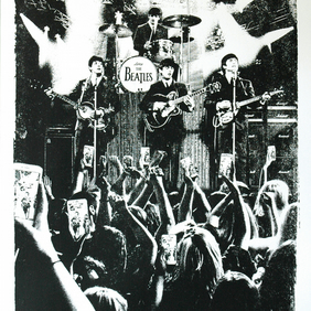 An audience with the The Beatles Hand Pulled Limited Edition Screen Print