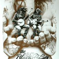 The Black Crowes Hand Pulled Limited Edition Screen Print