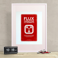 Back to the Future 'Flux Capacitor' Hand Pulled Limited Edition Screen print