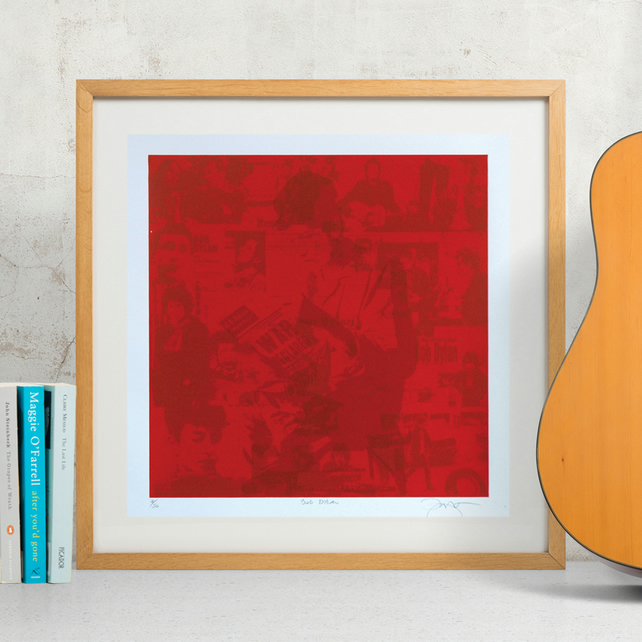 Bob Dylan Hand Pulled Limited Edition Screen Print