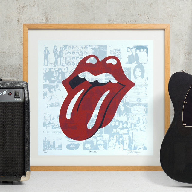 The Rolling Stones Hand Pulled Limited Edition Screen Print