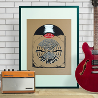 Nick Hornby High Fidelity Limited Edition Hand Pulled Screen Print