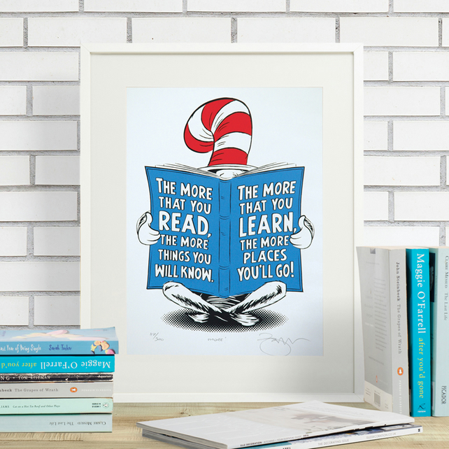 Dr.Seuss 'More!' Hand Pulled Limited Edition Screen Print