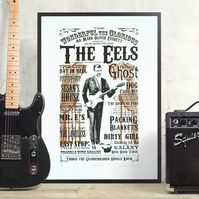 The Eels, Mark Oliver Everett Hand Pulled Limited Edition Screen Print