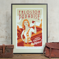 The Fifth Element Hand Pulled Limited Edition Screen Print