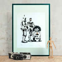 Star Wars 'Disguise' Hand Pulled Limited Edition Screen Print