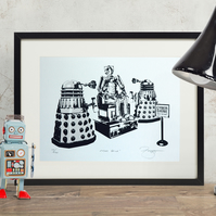 Doctor Who 'Cyber Shine' Hand Pulled Limited Edition Screen Print