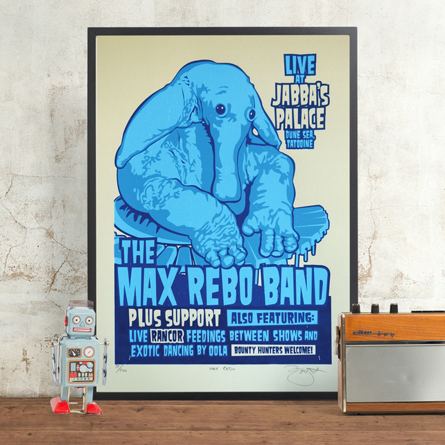 Star Wars 'Max Rebo' Hand Pulled Limited Edition Screen Print