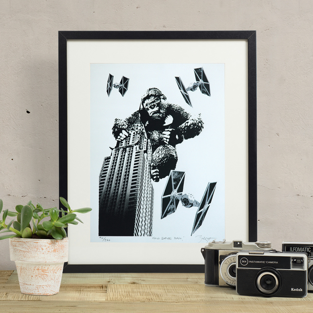 Star Wars 'Kong Strikes Back' Hand Pulled Limited Edition Screen Print