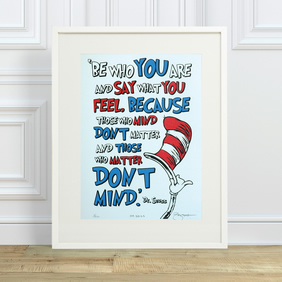 Dr.Seuss 'Say' Hand Pulled Limited Edition Screen Print