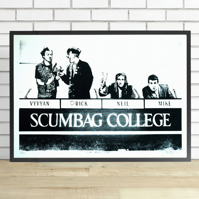 The Young Ones Hand Pulled Limited Edition Screen Print