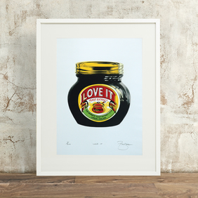 Love It Marmite Hand Pulled Limited Edition Screen Print