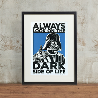 Star Wars Darth Vader 'Dark Side' Hand Pulled Screen Print