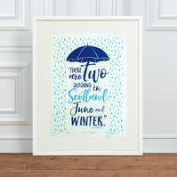 Billy Connolly 'Two Seasons' Hand Pulled Limited Edition Screen Print