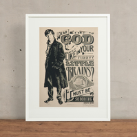 Benedict Cumberbatch Sherlock Hand Pulled Limited Edition Screen Print