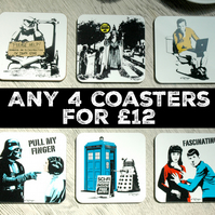 Any 4 Coasters Mix and Match Set