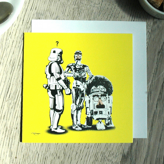 Star Wars Funny Geeky Blank Greetings card