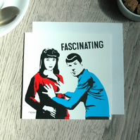 Star Trek Spock Funny Geeky Blank Greetings card