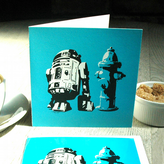 Star Wars R2D2 Funny Geeky Blank Greetings card