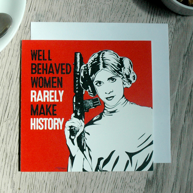 Star Wars Well Behaved Women Geeky Blank Greetings card