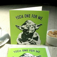 Star Wars Yoda Valentine's Funny Geeky Blank Greetings card