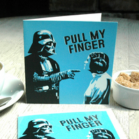 Star Wars Pull My Finger Funny Geeky Blank Greetings card