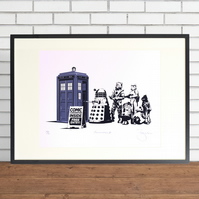 Dr Who, Star Wars, Convention Hand Pulled Special Edition Screen Print