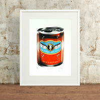 Irn Bru Hand Pulled Limited Edition Screen Print