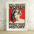 Star Wars Princess Leia 'Well Behaved' (Large) Hand Pulled Screen Print