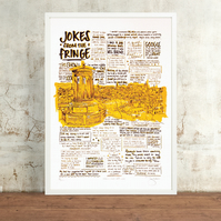 Jokes from the Fringe Hand Pulled Limited Edition Screen Print