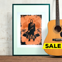 Hand Pulled Limited Edition 'Johnny Cash' Screen print