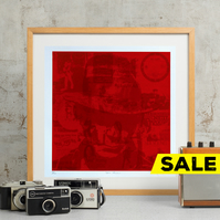 Neil Young Hand Pulled Limited Edition Screen Print