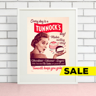 Tunnock's Hand Pulled Limited Edition Screen Print