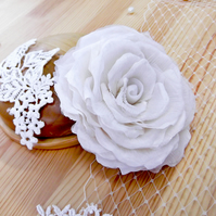 Silk Rose Floral Fascinator