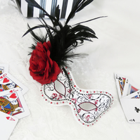 Queen of Hearts Masquerade Ball Mask Alice in Wonderland