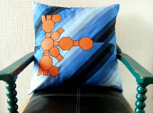"Geometric Cushion Cover.  21"" x 21"".  Maths Gifts"