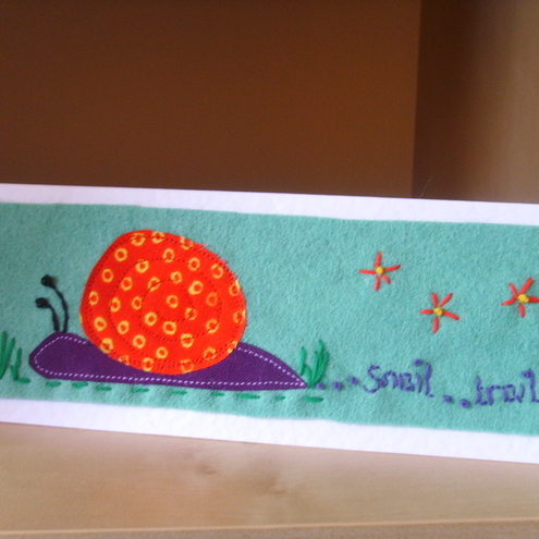 """snail trail"" greeting card"