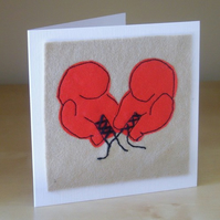 Boxing gloves card