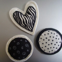 black and white magnets