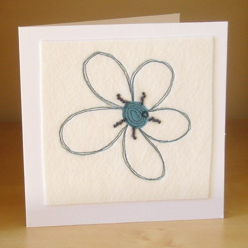 **SALE** Blue flower card