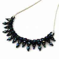 Black Heart Collar Necklace