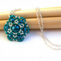 Starflower necklace - Teal