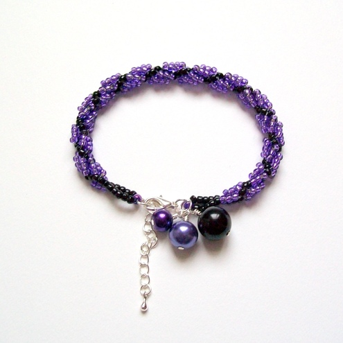 Spiral Rope Bracelet in Electric Violet