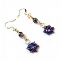 Purple Falling Star Earrings
